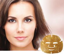 Natural Collagen Inventia Nanogold-Gesichtsmaske mit natürlichem Kollagen
